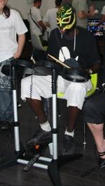 Nous avions le batteur de Slipknot! :p