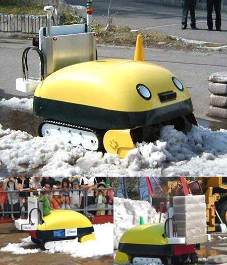 Yuki-Taro_snow_brick_robot