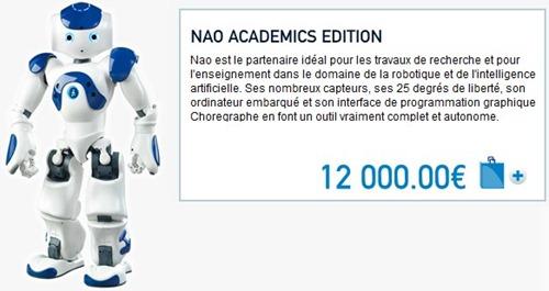 Nao_Academics_Tarif