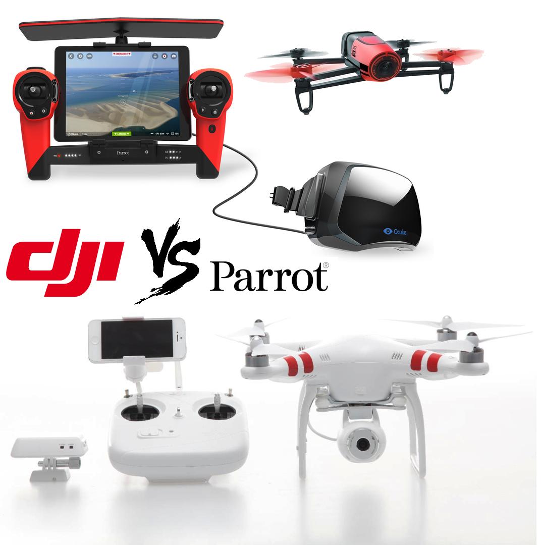 DJI Phantom2 Vision+ VS Parrot Bebop
