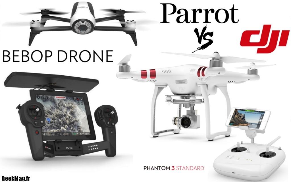 Parrot Bebop 2 VS DJI Panthom 3: duel de drone