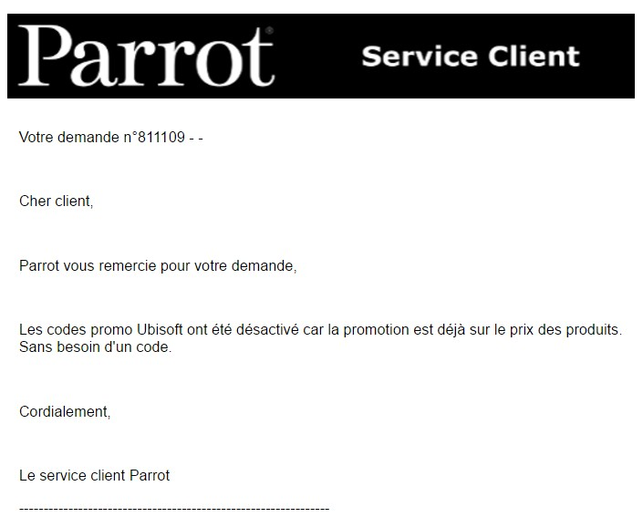 Parrot support Clients