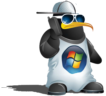 Tux love Windows
